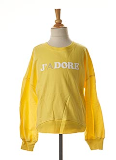 Sweat-shirt jaune TIFFOSI pour fille
