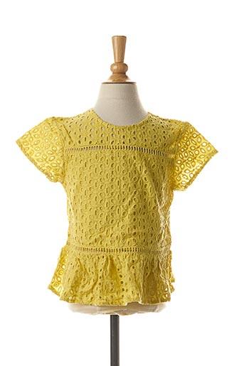Blouse manches courtes jaune TIFFOSI pour fille