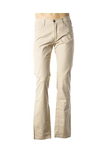 Pantalon casual beige DELAHAYE pour homme
