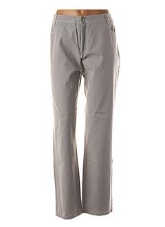 Pantalon casual gris ANNA MONTANA pour femme