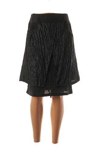 Jupe mi-longue noir CHRISMAS'S pour femme