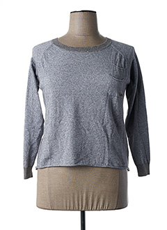 Pull col rond gris ALAN RED pour femme