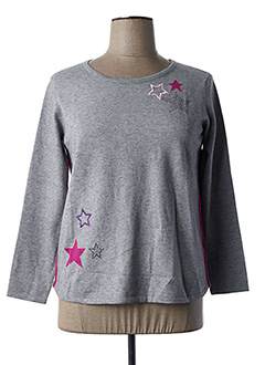 Pull col rond gris BETTY BARCLAY pour femme