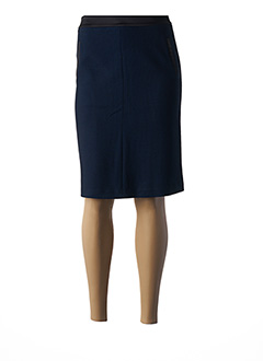Jupe mi-longue bleu PAUSE CAFE pour femme
