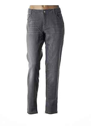 Jeans coupe slim gris BETTY AND CO pour femme