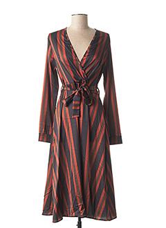 Robe mi-longue noir MISMASH pour femme