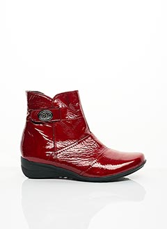 Bottines/Boots rouge GEO-REINO pour femme