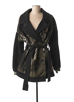Manteau long noir LAUREN VIDAL pour femme