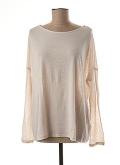 T-shirt manches longues beige MAJESTIC pour femme