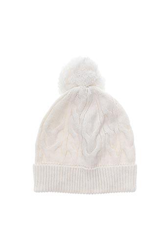 Bonnet blanc LILI GAUFRETTE pour fille