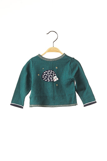 Pull col rond vert ABSORBA pour fille