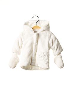 Manteau court blanc ABSORBA pour fille