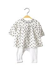 Combi-pantalon blanc ABSORBA pour fille seconde vue