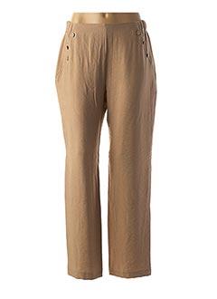 Pantalon casual beige HALOGENE pour femme