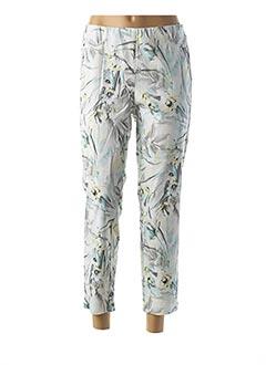 Pantalon casual blanc FRANK WALDER pour femme