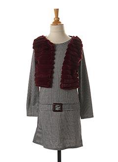 Robe mi-longue gris P'TIT MÔME pour fille