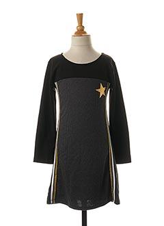 Robe mi-longue noir P'TIT MÔME pour fille