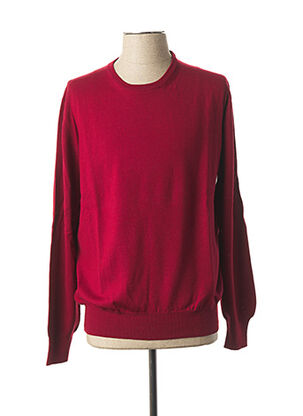 Pull col rond rouge GRAN SASSO pour homme