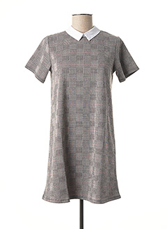 Robe mi-longue gris TEDDY SMITH pour fille