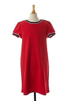 Robe mi-longue rouge TEDDY SMITH pour fille