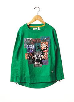 Sweat-shirt vert NOPPIES pour garçon