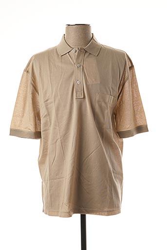 Polo manches courtes beige GRAN SASSO pour homme