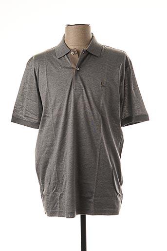 Polo manches courtes gris GRAN SASSO pour homme