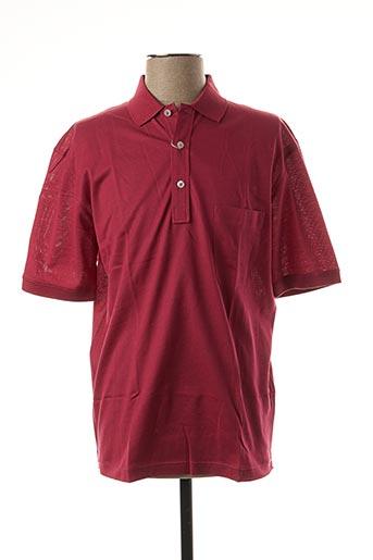 Polo manches courtes rouge GRAN SASSO pour homme