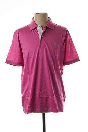 Polo manches courtes violet GRAN SASSO pour homme