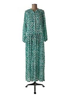 Robe longue vert BAKKER pour femme