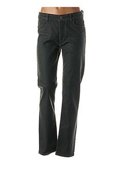 Jeans coupe slim vert LAUREN VIDAL pour femme