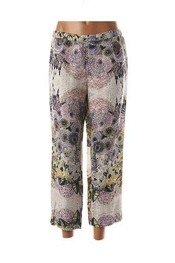 Pantalon 7/8 gris GRIZAS pour femme