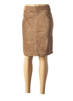 Jupe mi-longue marron THALASSA pour femme