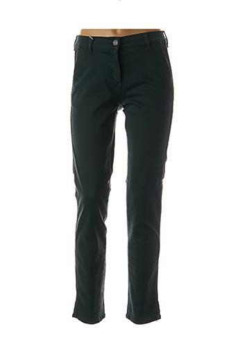 Pantalon casual vert EAST DRIVE pour femme