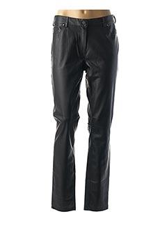 Pantalon casual noir EMMA & CARO pour femme