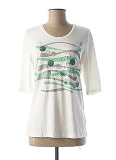 T-shirt manches courtes blanc LEBEK pour femme
