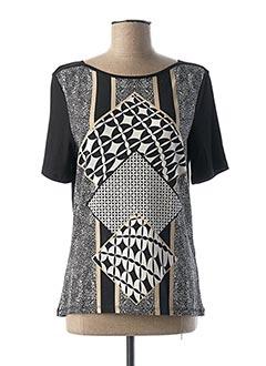 T-shirt manches courtes noir LEBEK pour femme