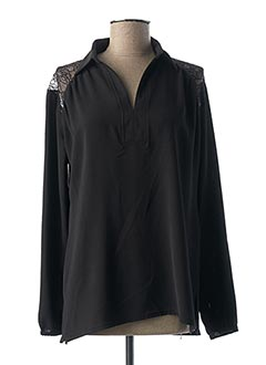 Tunique manches longues noir HALOGENE pour femme