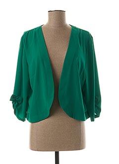 Boléro vert HALOGENE pour femme