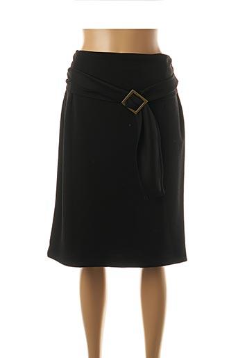 Jupe mi-longue noir FARUK pour femme
