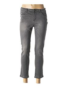 Jeans coupe slim gris C'EST BEAU LA VIE pour femme