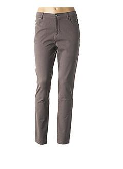 Pantalon casual gris MARBLE pour femme