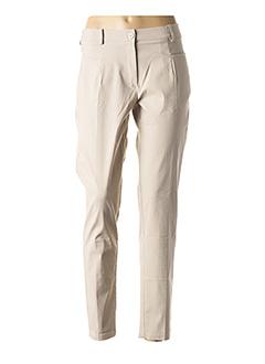 Pantalon casual beige ONE O ONE pour femme