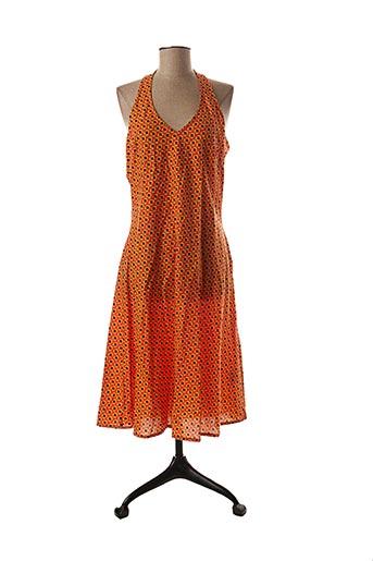 Robe mi-longue orange BLA-BLA pour femme