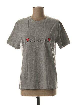 T-shirt manches courtes gris BONS BAISERS DE PANAME pour femme