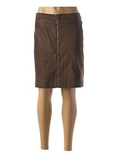 Jupe mi-longue marron ATELIER GARDEUR pour femme
