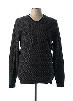 Pull col V noir NO EXCESS pour homme
