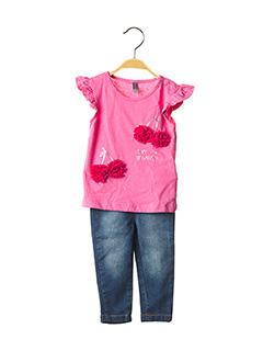 Top/pantalon rose LOSAN pour fille