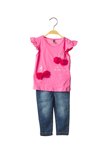 Top/pantalon rose LOSAN pour fille