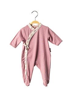 Pyjama rose BEBE CHOCOLAT pour fille